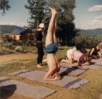 My parents at the Yoga Camp.