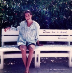 Prema at the Sivananda Yoga Retreat in the Bahamas 1997.