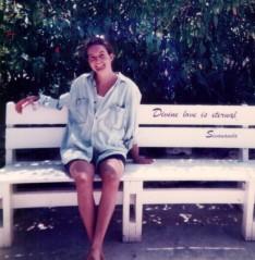 Prema at the Sivananda Yoga Retreat in the Bahamas 1997.