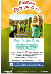 Yoga Mountview festival of fun