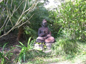 IMG_7860_Buddha statue in the beautiful garden at Santosha