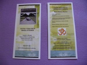 brochure, back & front