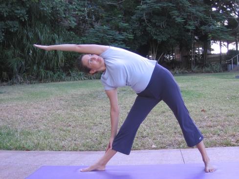 Trikonasna - the Triangle pose