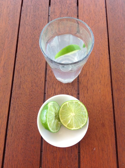 I start my day with lemon or lime water.