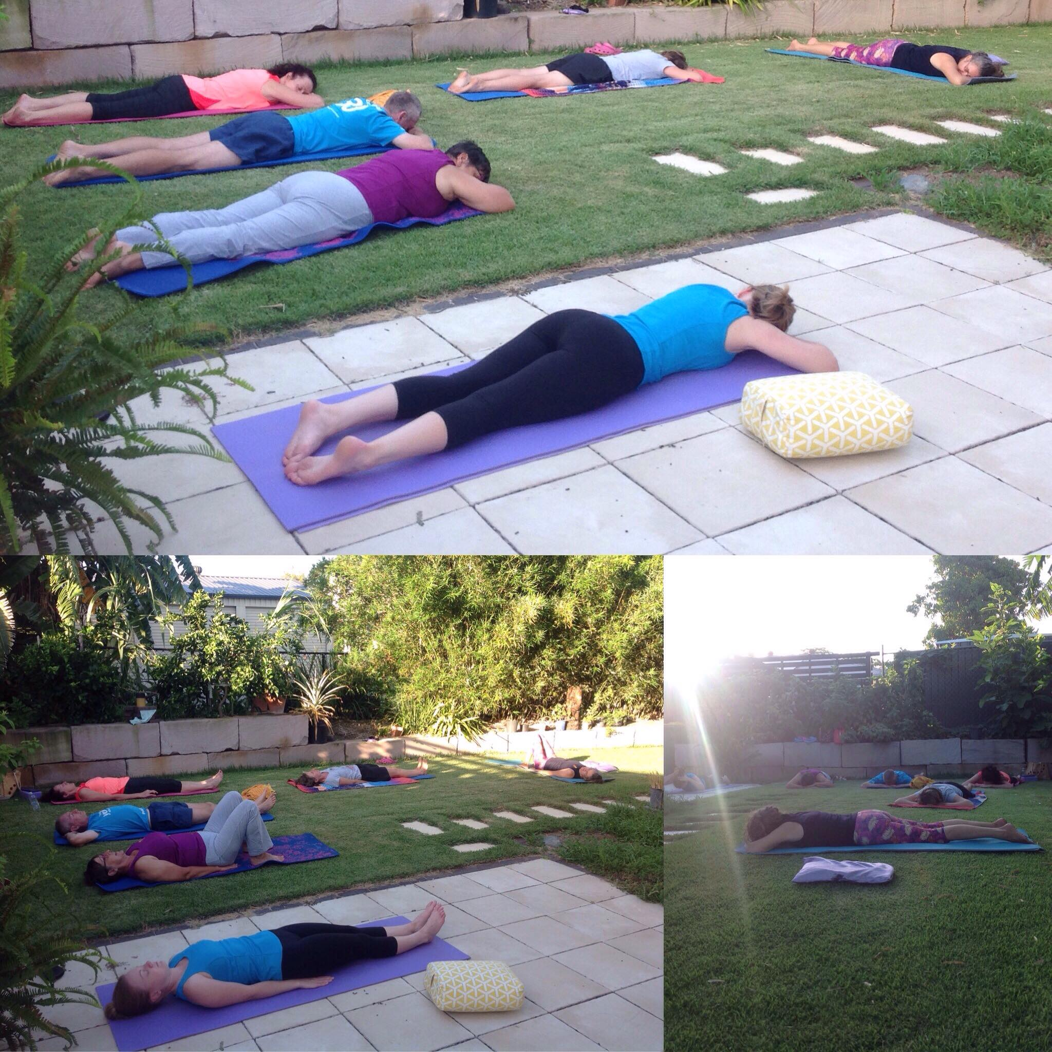 yoga class at home January 2018 relaxation