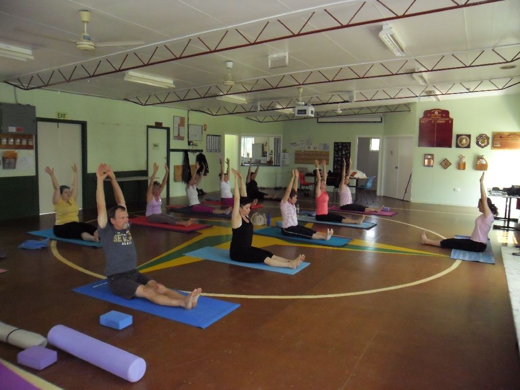 Hatha Yoga class with Maria Steiner at Raceview Scout Hall, Eastern Heights, Ipswich, QLD.