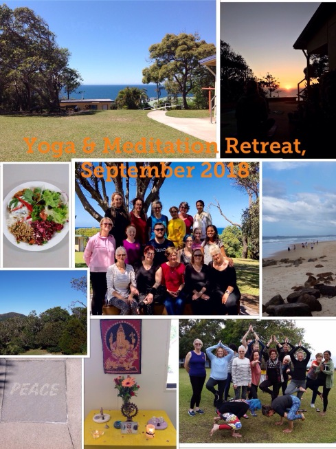 Yoga & Meditation Weekend Retreat, September 2018 at Luther Heights Youth Camp in Coolum Beach, Sunshine Coast, QLD.